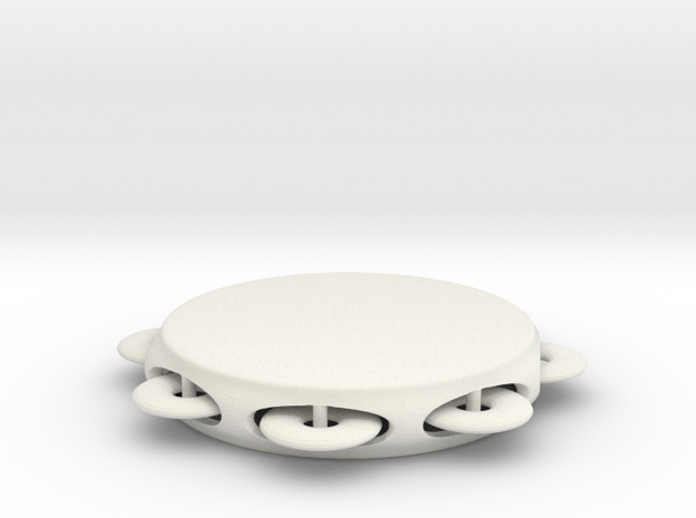 Minimum tambourine in White Natural Versatile Plastic