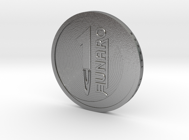 Lunaro Sterling. 2014, coin in Natural Silver