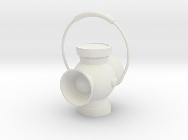 "3"" Scale Power Battery Lantern in White Natural Versatile Plastic"