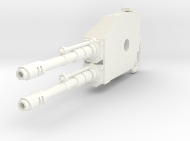 Mech Dual Gun Right Arm in White Processed Versatile Plastic