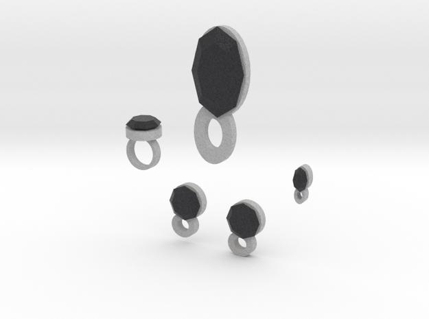 Lara Onix Night Jewelry Set in Full Color Sandstone