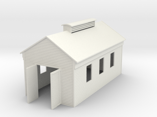 Engine Shed Single Stall 1:120 3d printed