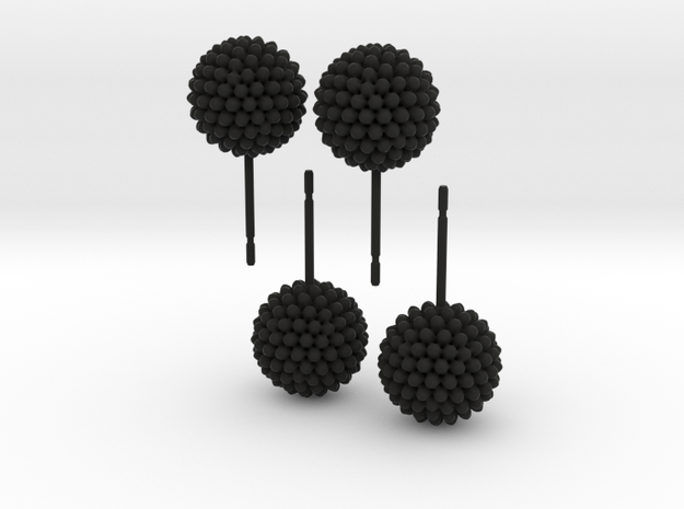 Bumpy Earrings, 2 Pair 3d printed