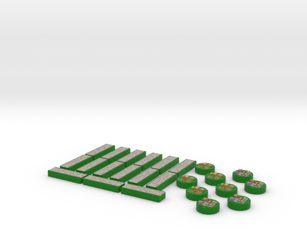 Immigrants of Bob Game Pieces - Green 3d printed
