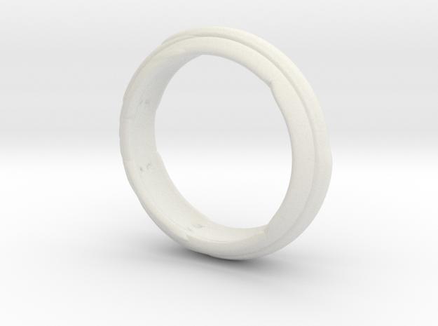 Modern Ring in White Natural Versatile Plastic