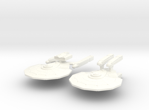 USS Salazar and USS Rodelle 3d printed