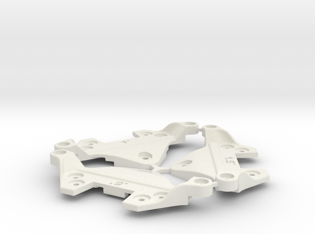 F1 Camber Block Set in White Natural Versatile Plastic