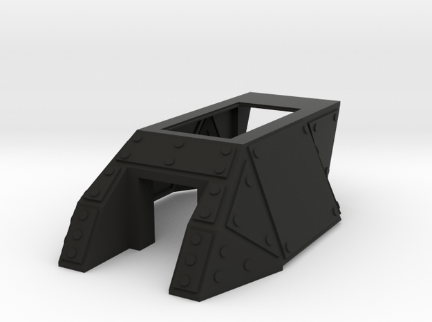 Full Turret with square hatch 3d printed