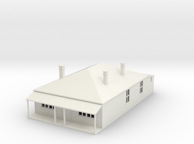 Older  House 1:120 in White Strong & Flexible