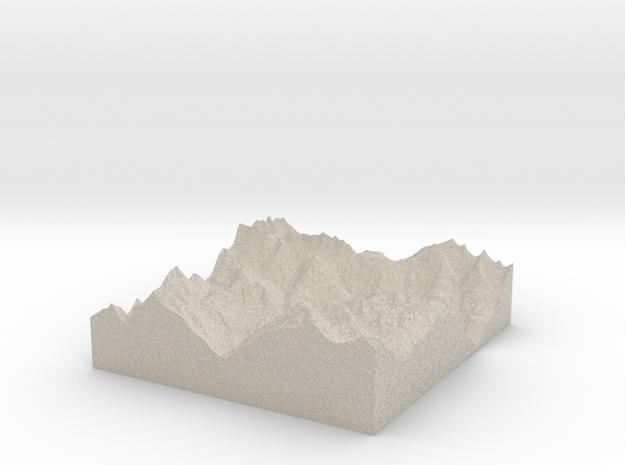 Model of Sankt Anton am Arlberg 3d printed
