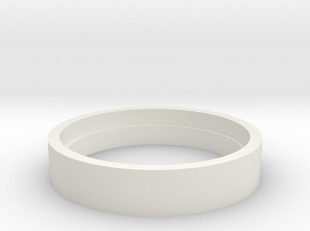 Spy Coin Opener- Quarter (mm) in White Natural Versatile Plastic