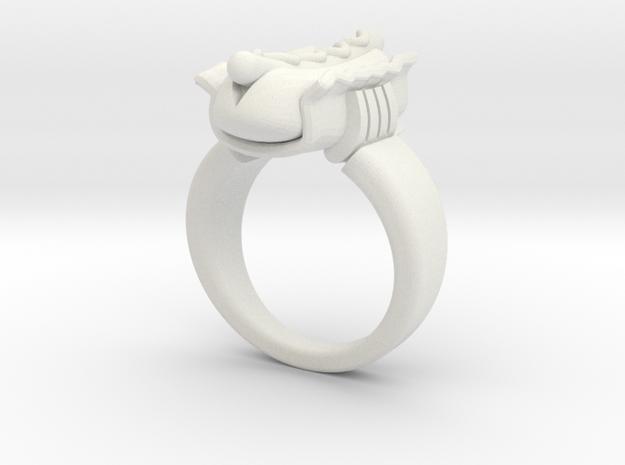HotDog Ring in White Natural Versatile Plastic