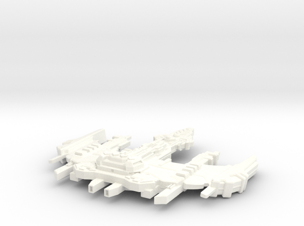 Ru'Tock Class Destroyer in White Processed Versatile Plastic