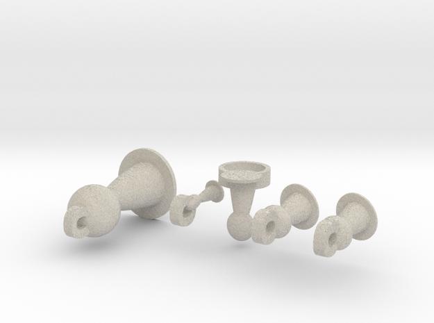 Pawn Jewelry Set 3d printed