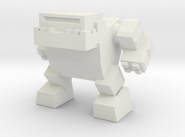 Robot 0042 Mech Bot v1 Bulldog in White Natural Versatile Plastic