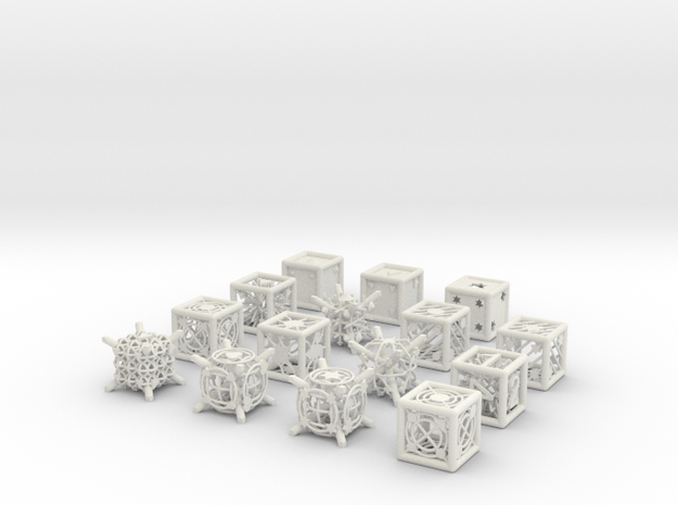 Grid Die All Pack 4 of 13 in White Natural Versatile Plastic