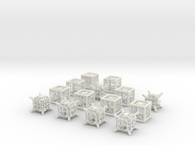 Grid Die All Pack 11 of 13 in White Natural Versatile Plastic