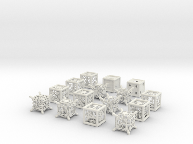 Grid Die All Pack 6 of 13 in White Natural Versatile Plastic