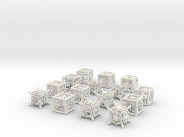 Grid Die All Pack 5 of 13 in White Natural Versatile Plastic