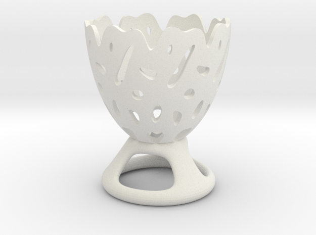 Decorative Eggcup in White Strong & Flexible