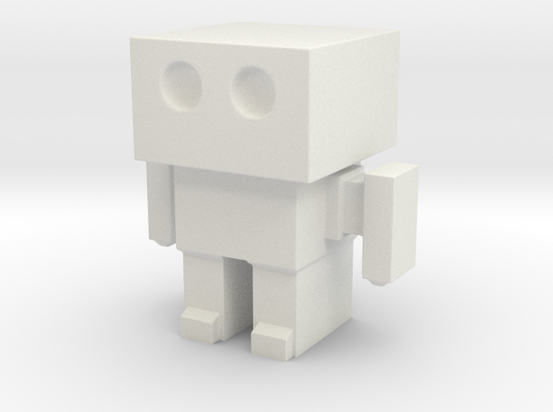 Robot 0047 Basic Robot in White Natural Versatile Plastic