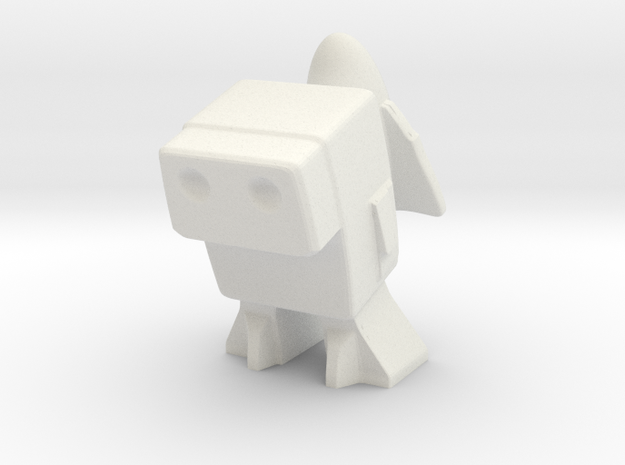 Robot 0048 Jet Pack Bot in White Natural Versatile Plastic