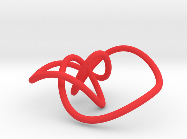 Mathematical knot, thin 3d printed
