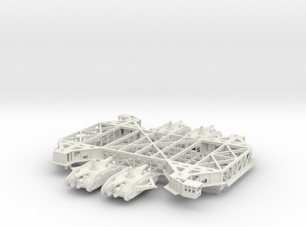 1/144 NASA Shuttle/Saturn Crawler - no deck/tracks in White Natural Versatile Plastic