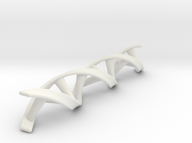 DNA double helix in White Strong & Flexible