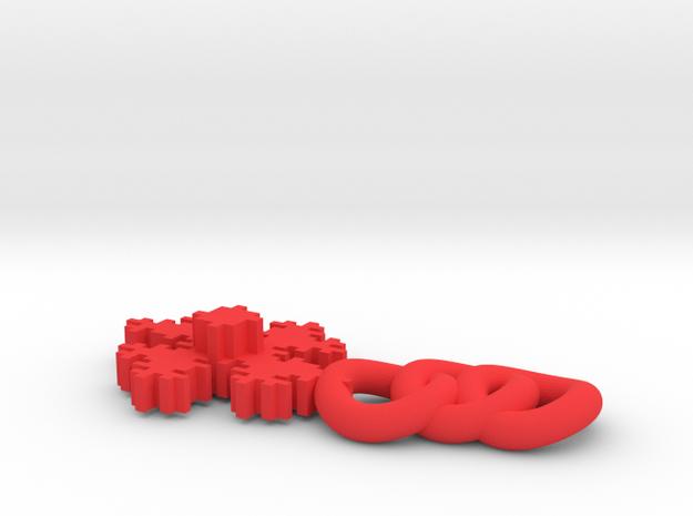 Fractal Pendant 3d printed