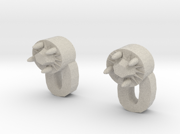 Tiger Woman Earrings 3d printed