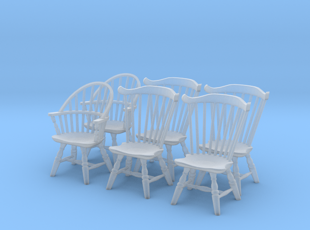 1:43 Windsor Chair Set in Frosted Ultra Detail