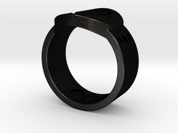 Death FF Ring Sz 13 in Black Natural Versatile Plastic