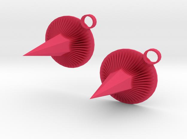 Purple Spike Earrings 3d printed