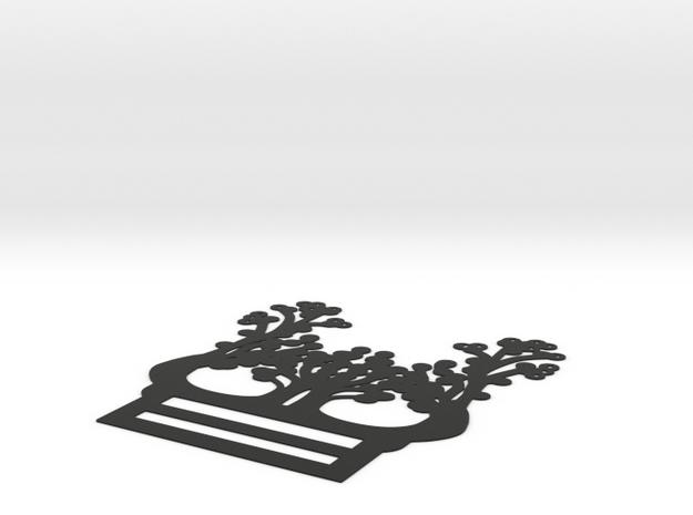 Neck Scarf Necklace in Black Natural Versatile Plastic