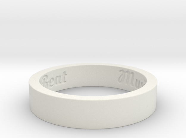 My Awesome Ring Design Ring Size 11 3d printed