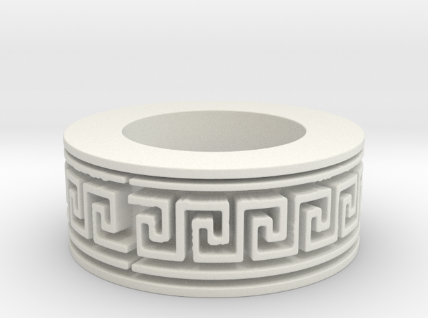 Vedic Ornament Ring Ring Size 8.5 3d printed