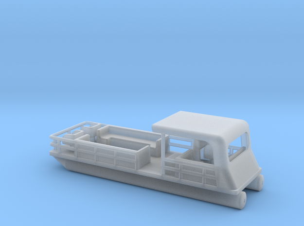 Pontoon Boat - HOscale in Smooth Fine Detail Plastic