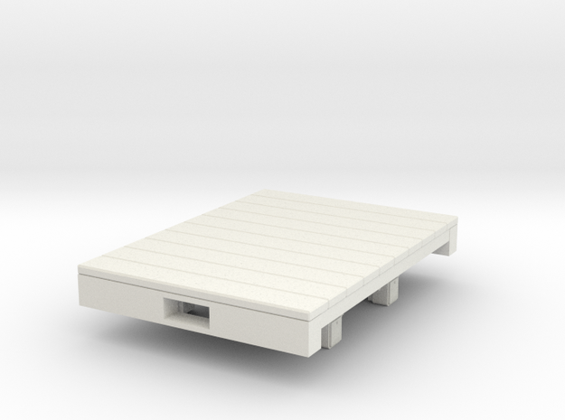 Gn15 flat wagon (short)  in White Natural Versatile Plastic