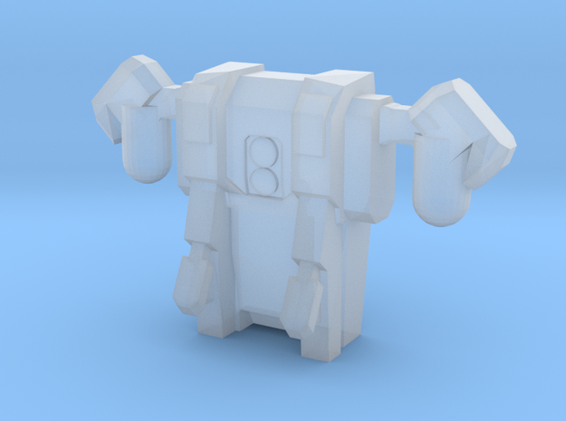 Jet Pack-Flying Mode-Attachment in Smooth Fine Detail Plastic