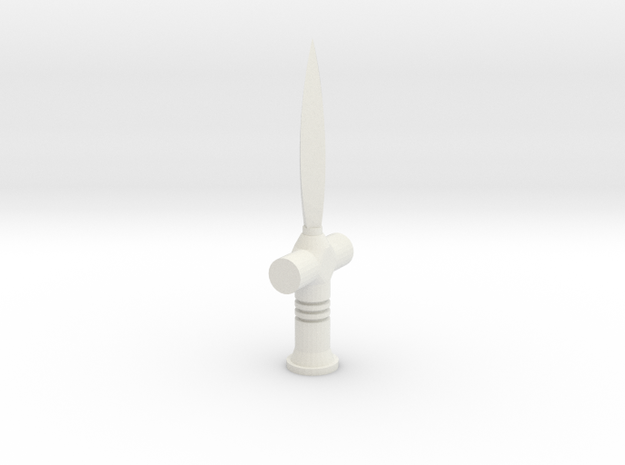 Sudan Arm Knife in White Natural Versatile Plastic