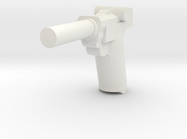Luger P 08 in White Natural Versatile Plastic