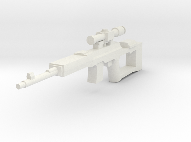 Soviet SVD Dragunov in White Natural Versatile Plastic