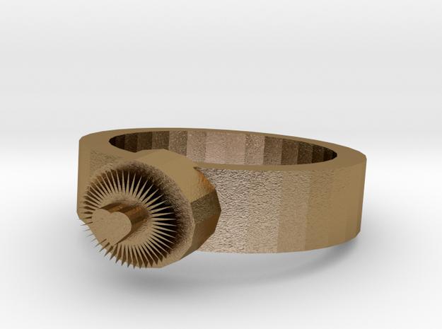 Bright Heart Metal Ring 3d printed