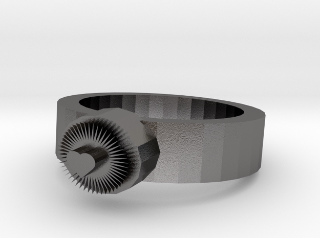 Bright Heart Metal Ring 3d printed
