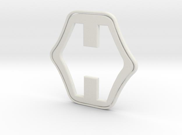 Hero H in White Natural Versatile Plastic
