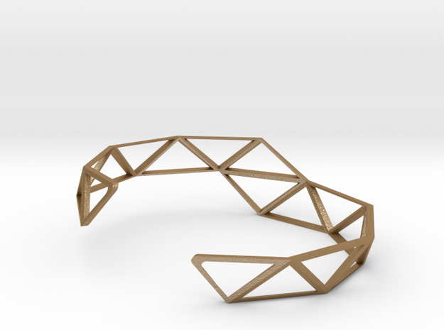 Faceted Bracelet 3d printed