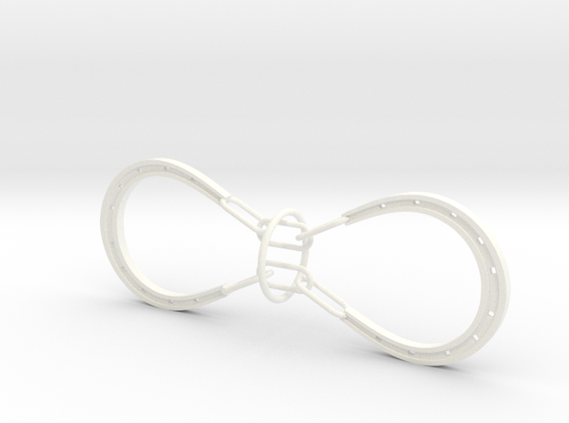 Horse Shoe and Ring puzzle 3d printed