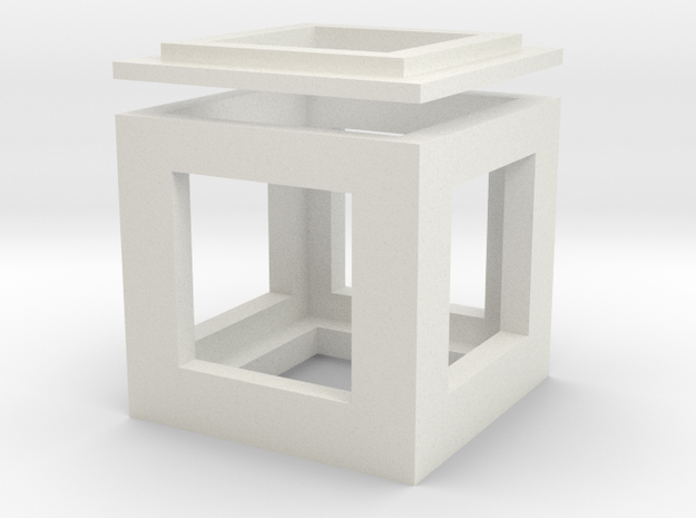 cubo in White Natural Versatile Plastic