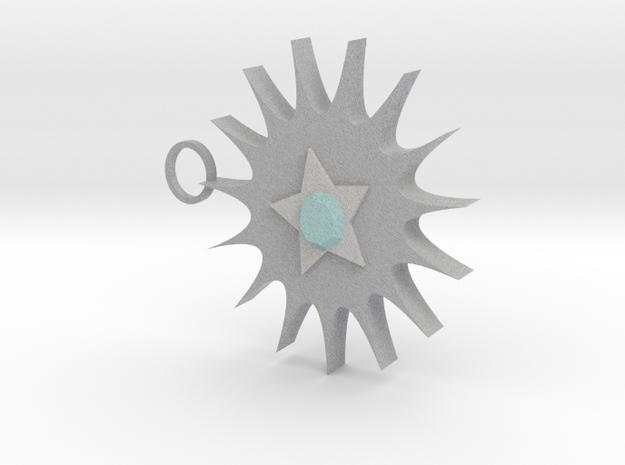Sun Star Pendant 3d printed